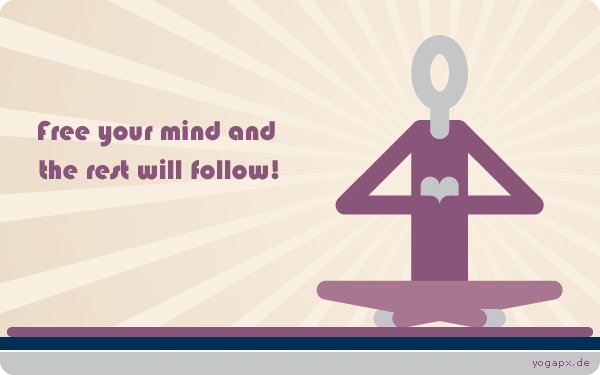 yogapx - Yoga Illustration: Free your mind and the rest will follow!